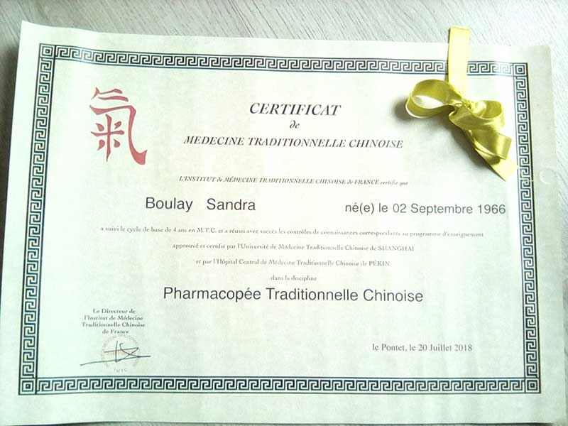 Diplôme pharmacopée traditionnelle chinoise